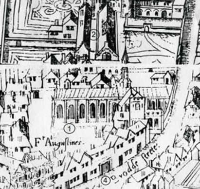 https://lostcityoflondon.files.wordpress.com/2014/05/1-the-former-augustinian-priory-complex-as-shown-on-the-copper-plate-map-of-c1550-1-church-2-cloister-3-cromwells-house-4-gate-house-e1401300456897.jpg